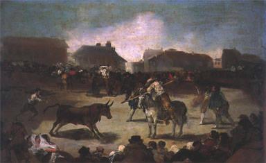Corrida de toros en una aldea (Hacia 1812-1819)